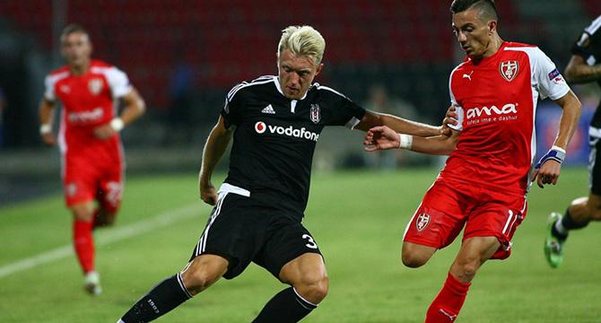 Skenderbeu Beşiktaş ilk maç sonucu 0-1