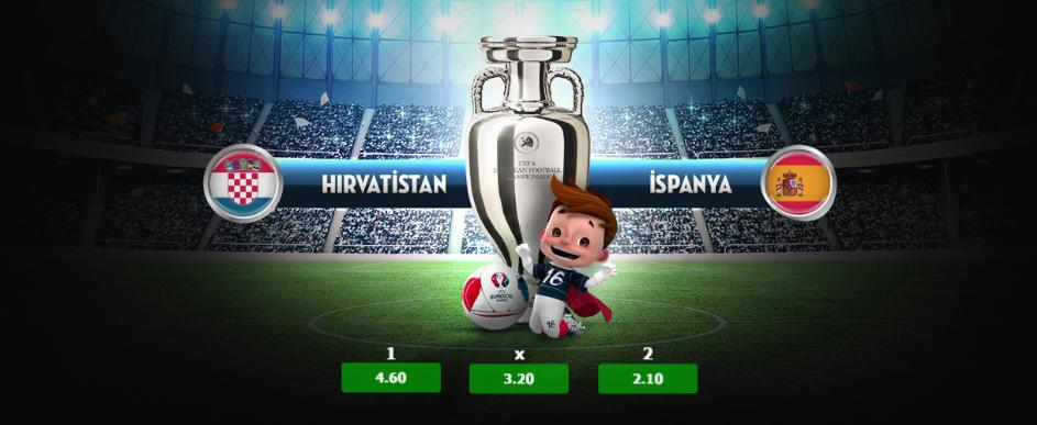 22:00 Hırvatistan - İspanya Euro 2016 Günün Maçları 21 Haziran 2016
