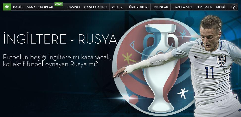 İngiltere - Rusya Euro 2016 Maçı iddaa ve Bahis Tahmini