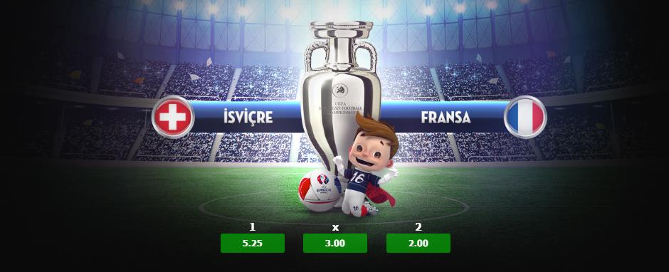 İsviçre Fransa, Romanya Arnavutluk Euro 2016 Maçı 19 Haziran 2016
