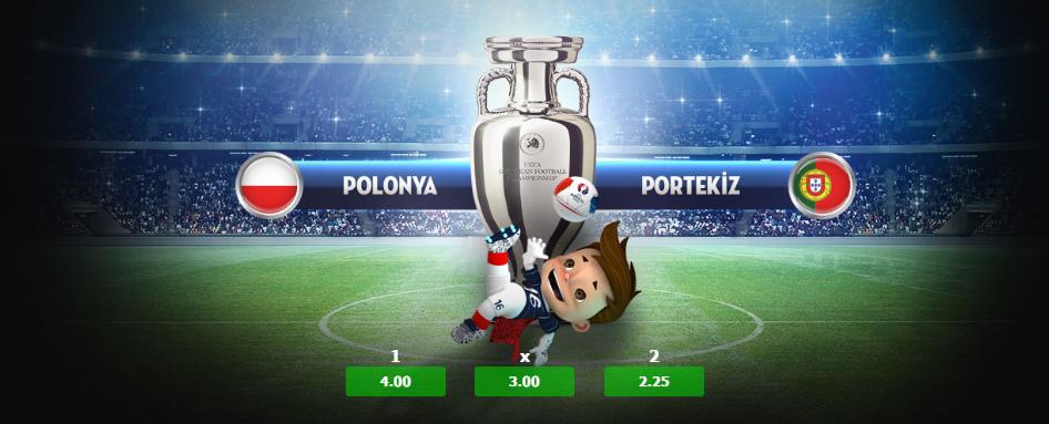 Polonya Portekiz Euro 2016 Bets10 Oranları