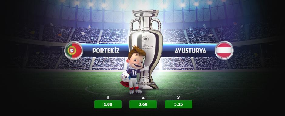 Portekiz Avusturya, İzlanda Macaristan, Belçika İrlanda Euro 2016 Maçı 18 Haziran 2016