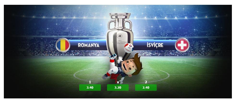 Fransa -Arnavutluk, Romanya - İsviçre, Rusya - Slovakya Euro 2016 15 Haziran 2016