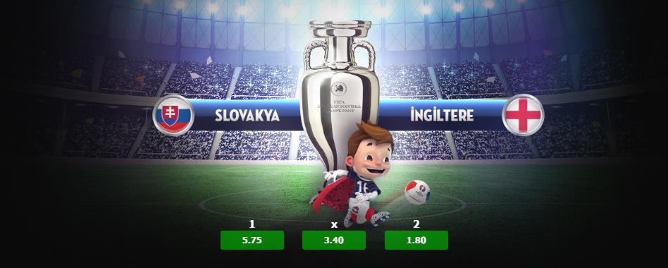 Slovakya İngiltere, Rusya Galler Euro 2016 Maçı 20 Haziran 2016