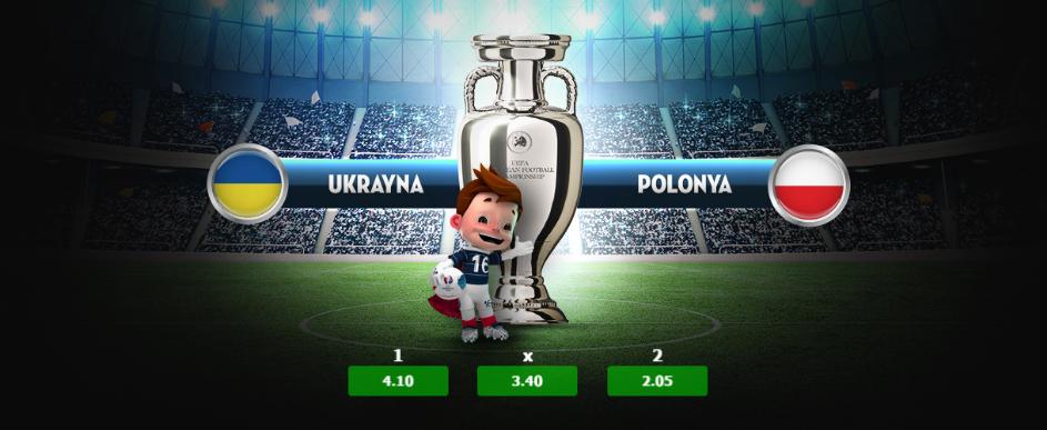 19:00 Ukrayna - Polonya Euro 2016 Günün Maçları 21 Haziran 2016