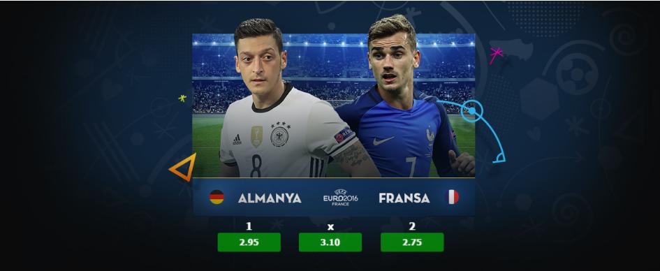 Almanya Fransa 7 Temmuz Euro 2016