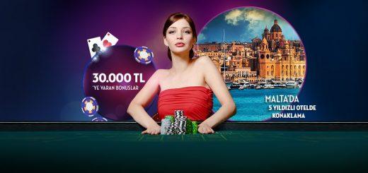 30 Bin ve Malta Tatil Paketi Ödüllü Casino Turnuvası