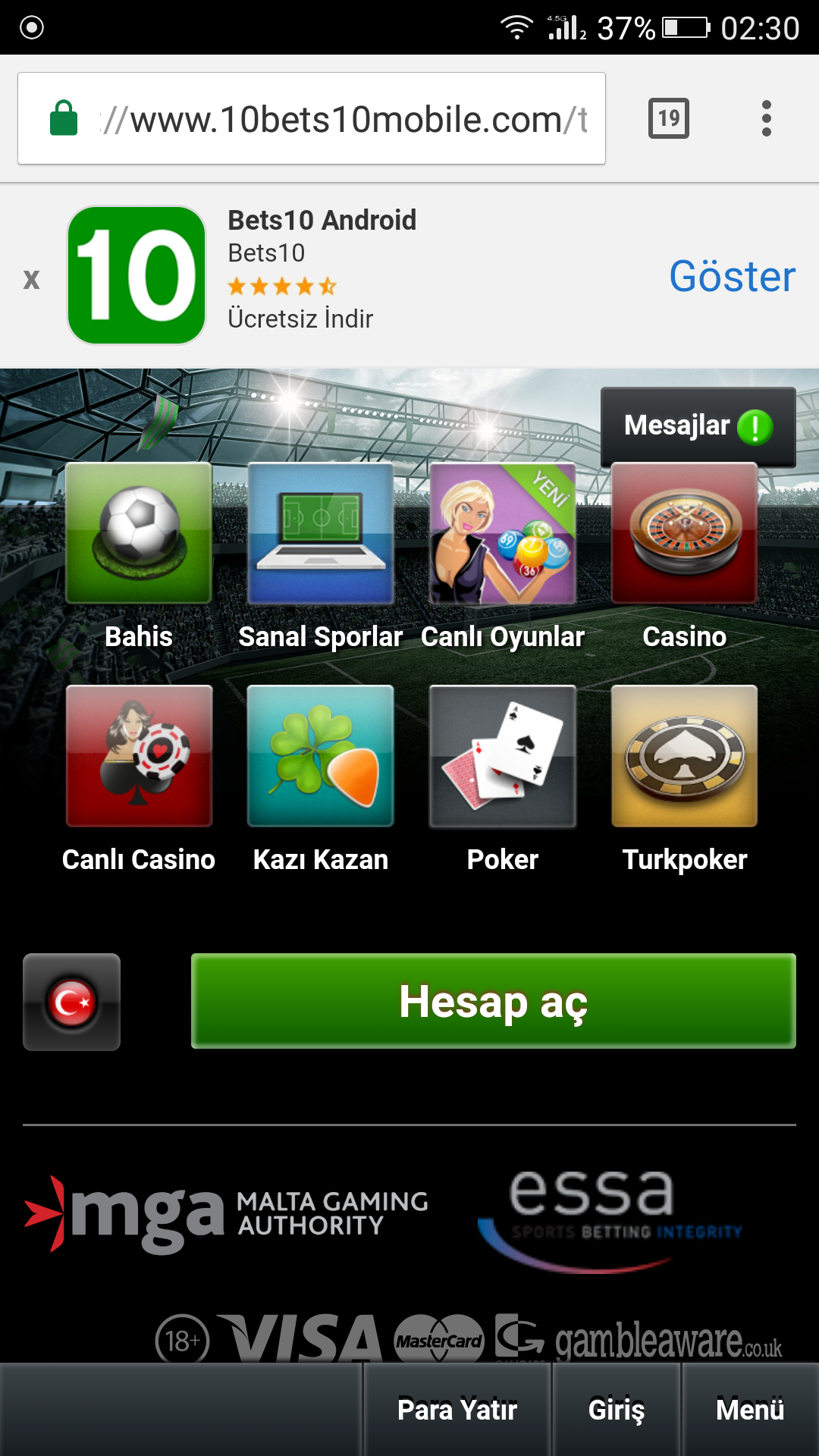 Bets10 Mobile Adresi 10Bets10Mobile.Com Oldu
