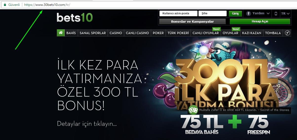 30Bets10.com Yeni Adres Oldu