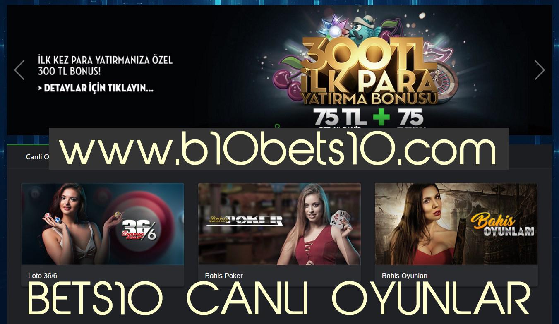 Bets10 Yeni Canlı Oyunlar
