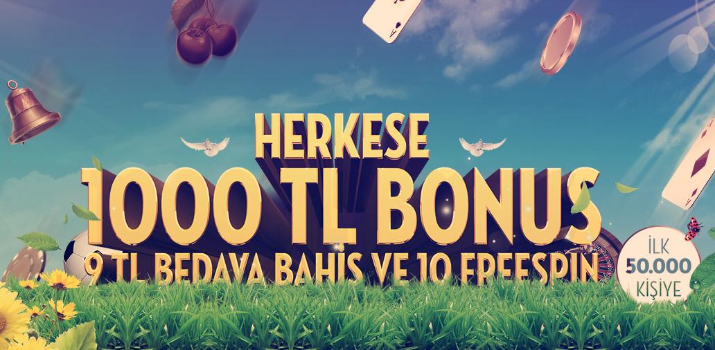 1000 TL Bahar Bonusu Sürprizi