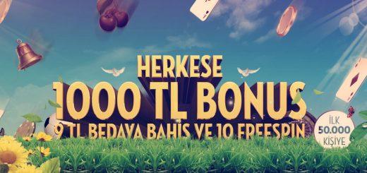 Bets10 Bahar 1000 TL Bonusu Kampanyası