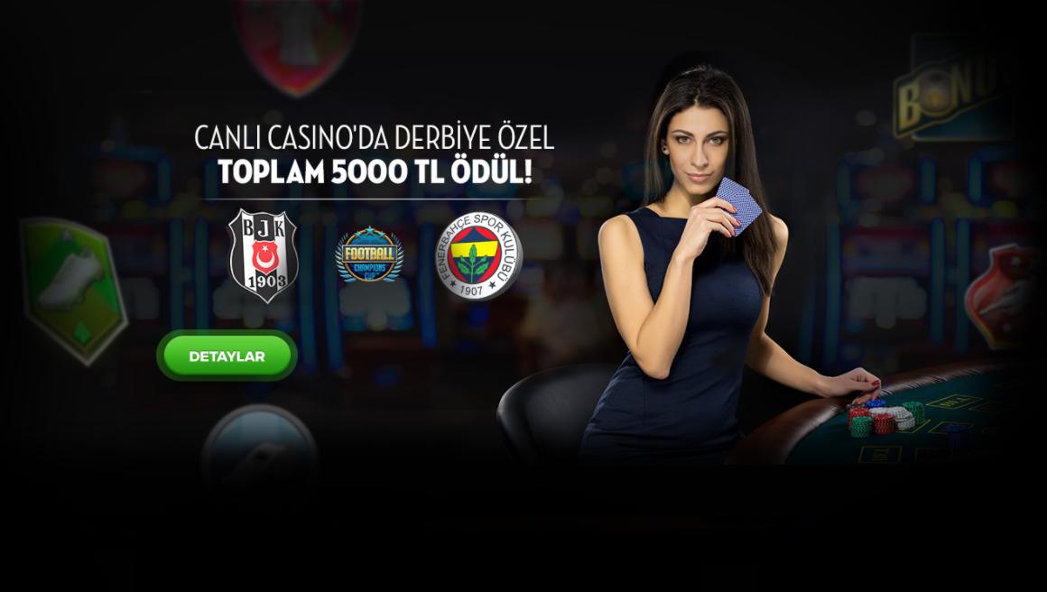 Canlı Casino da Derbiye Özel 5000 TL Ödül